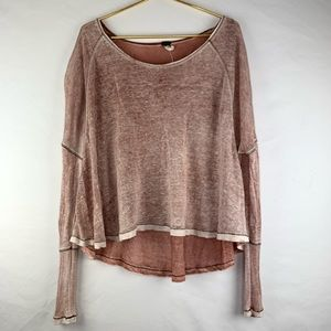 We the Free linen blend dolman oversized top